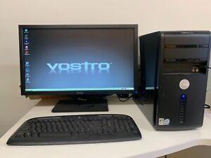 Dell Vostro 400 intel core 2 quad desktop computer with monitor