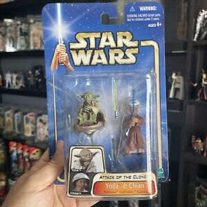Star Wars Yoda & Chian Padawan Lightsaber Training '03 #15 Hasbro Action Figure