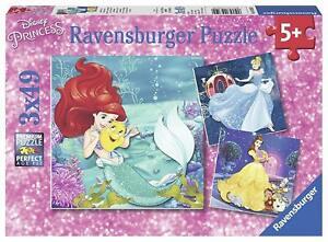 Ravensburger Disney Princesses Adventure Jigsaw Puzzle Set 3x49pc