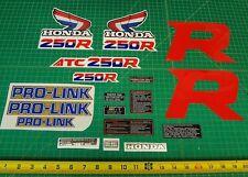 1987 87' ATC honda 250R 18pc. ATV trike vintage stickers decals logos kit TRX