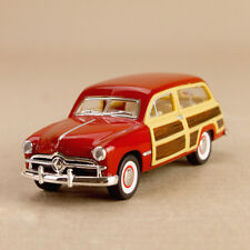 1949 Ford Woody Wagon Vintage Red Mod Car 1:40 Scale 12cm Die-Cast Pull-Back OLP