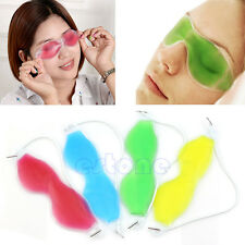 Gel Eye Mask Cold Pack Warm Hot Ice Cool Soothing Tired Eyes Headache Pad New