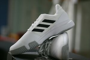 ADIDAS RACQUETBALL / TENNIS SHOES COURTJAM BOUNCE WHITE MENS SIZE 13 WIDE