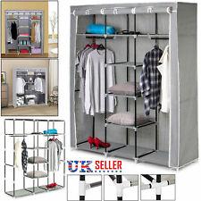 Large Canvas Wardrobe Foldable Clothes Storage Cupboard Shelving Organizer