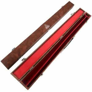 CUESOUL  Brown Pool Cue Case for 1/2 Jointed 57 inch billiard without protector
