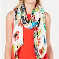 INC International Concepts Women One Size Rainforest Floral Print Pashmina Scarf