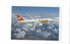 Balair airlines Switzerland issued 767-300 (orange letter) cont/l postcard