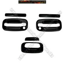 FOR 1999-2006 CHEVY SILVERADO / GMC SIERRA BLACK GLOSS 2 HANDLE TAILGATE COVERS