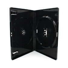 600 x 2 Fach AMARAY DVD Hüllen für 2 CD / DVD Hülle | 14mm Schwarz Doppelseitig