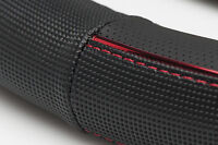 Sumex Brand Soft Grip Car Steering Wheel Sleeve Cover - Black with Red Trim #97
