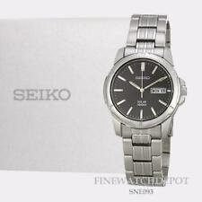 Seiko Men's Solar 2n6858 Black Dial 100m Stainless Steel Silver Tone Watch