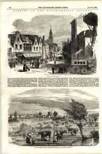1855 Gouda South Holland Dutch Rhenish Railway Opened Crossing Polder