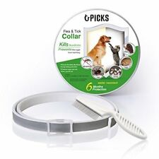 U-picks Dog Flea Collar,6 Months Flea and Tick Control Protection for Dogs Cats,