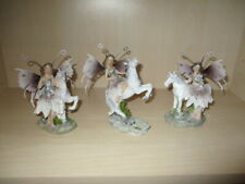 3 Beautiful Figures Elf with Unicorn Detachable Wings Made of Metal Height 13 -