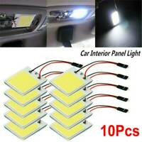 10PCS 48 SMD COB LED T10 4W 12V Light Car Interior Panel Lights Dome Lamp Bulb