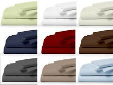 New ListingBest Bedding Set Pillow/Flat/Fitted/Sheet 600 Tc Quality Cotton All Solid Colors
