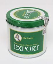 70'S Vintage Macdonald EXPORT Tobacco Tin 200g - Canada bilingual English/French