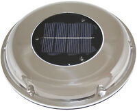 Solar Vent Exhaust & Intake Caravan & Boat Stainless Exterior  Low Profile New