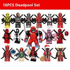 16X Deadpool Minifigure - Marvel Super Heroes Figure For Custom Lego Minifigure
