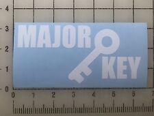 "DJ Khaled Major Key 6"" Wide White Vinyl Decal Sticker - BOGO"
