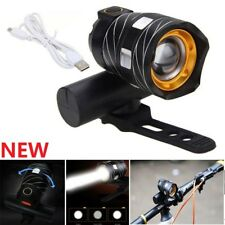 USB Rechargeable Bright LED Bicycle Motor Bike Front Zoom Headlight Light Lamp E