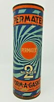 Vintage Art Deco Blue Swirl Permatex Number 2 Form a Gasket Can