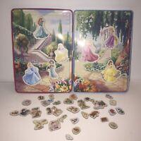 Disney Princess Magnets And Tin Ariel Cinderella Jasmine Belle Sleeping Beauty