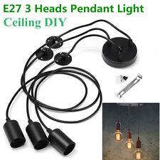 E27 3 Heads Pendant Lamp Retro Industrial Edison Ceiling Light LUZ Chandelier