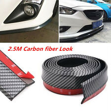 2.5M Universal Carbon Fiber Front Bumper Lip Splitter Chin Spoiler Car Body Kit