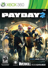 Payday 2 Xbox 360 Game PAL Booklet