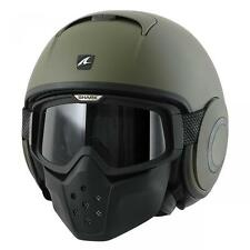 Shark Raw Blank Motorcycle Helmet Mat Green Large 59-60 cm RRP 369.00