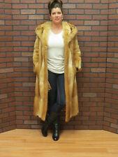ladies RETRO FAB! clean soft RED FOX MUSKRAT FUR COAT sm petite fit