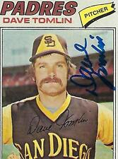DAVE TOMLIN SIGNED 1977 TOPPS #241 - SAN DIEGO PADRES
