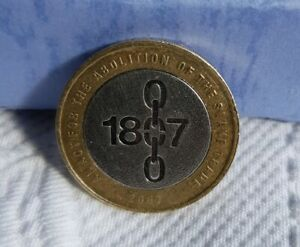 Rare Misprint/Mint Errors 1807 Abolition of The Slave Trade 2007 £2 coin.
