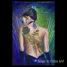 *ROSE DES FOLIES* Fantasy Art 3D Print By Alchemy Gothic (39.5x29.5cm)
