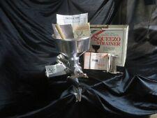 New listing Vintage Garden Way Original Metal Squeezo Food Strainer 2 Strainers, box & info