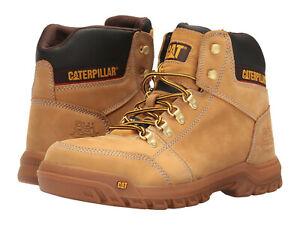 Men Caterpillar Outline Steel Toe Work Boot P90801 Honey 100% Authentic New