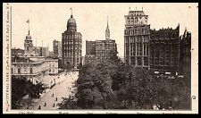 1900 Private Mailing Card City Hall Tribune Potter Buildings NYC New York City