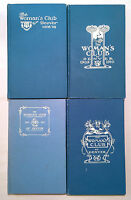 The Woman's Club of Denver 4 Volumes 1908-1912 HC Women's Colorado Announcement
