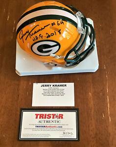 "Jerry Kramer ""HOF 2018""  Packers Autographed Signed Mini Helmet - Tristar"