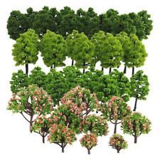 70pcs Model Trees HO Z TT Scale Layout Train Garden Park Buildings Diorama