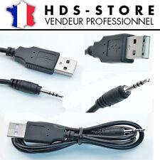 CÂBLE DE CHARGE TRANSFERT USB 2.0 A MÂLE VERS JACK 2,5 MM POUR MONTRE CAMERA