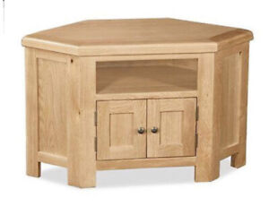 Sussex Oak Corner Tv Unit Extensive Collection Of Hand Crafted Rustic Furniture