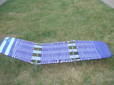 Vintage Purple Folding Lawn Chaise Lounge Chair Beach Pool Vinyl Tube Plastic