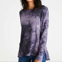American Eagle Soft & Sexy Plush Purple Tie Dye Pullover Long Sleeve Top Size S