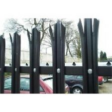 1.8m high Palisade fencing Galvanised & PPC Green or Black