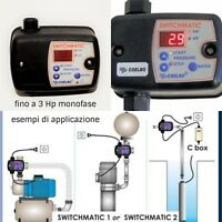 Pressostato elettronico interruttore a pressione autoclave regolazione 0,5 7 Bar