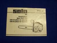 Original Ersatzteilliste Solo 610 Motorsäge - Rarität
