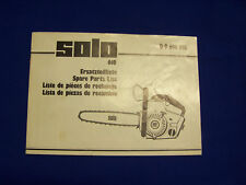 Original Spare Parts List Solo 610 Electrical Saw - Rarity