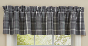 "Park Designs BEAUMONT Plaid Unlined Window Valance 72""x14"" - Gray, Green, Black"
